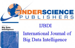 International Journal of Big Data Intelligence